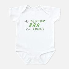 Hero Sister Green Infant Bodysuit