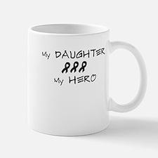 Hero Daughter Black Mug
