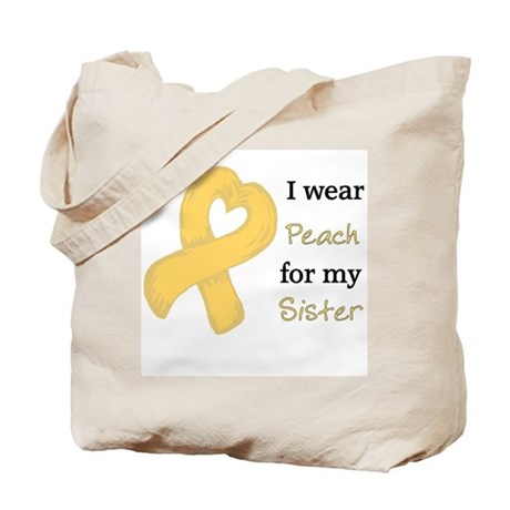 I WEAR PEACH for my Sister Tote Bag