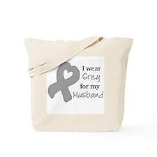 I WEAR GREY for my Husband Tote Bag