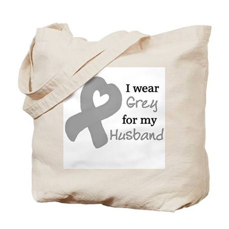 I WEAR GREY for my Husband Tote Bag