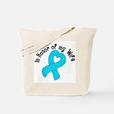Honor Teal Wife Tote Bag
