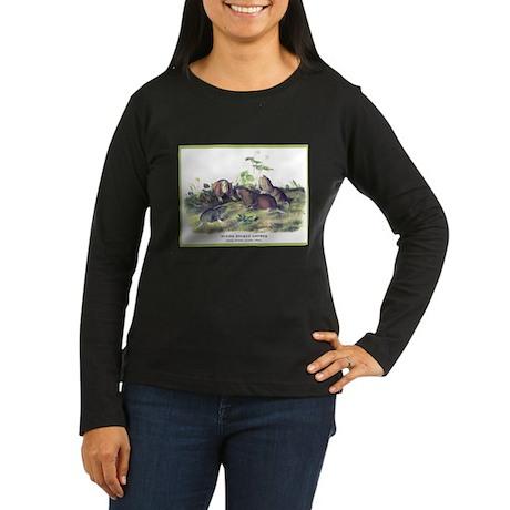 Audubon Gopher Animal (Front) Women's Long Sleeve