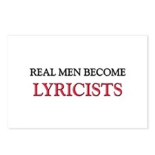 Real Men Become Lyricists Postcards (Package of 8)