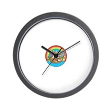 Cute Two by two noahs ark Wall Clock