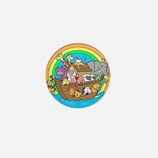 Cute Noahs ark baby Mini Button