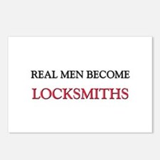 Real Men Become Locksmiths Postcards (Package of 8