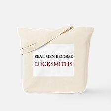 Real Men Become Locksmiths Tote Bag
