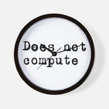 Anti-computer Wall Clock