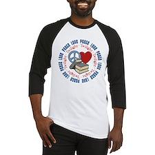 Peace Love Twilight Book Baseball Jersey