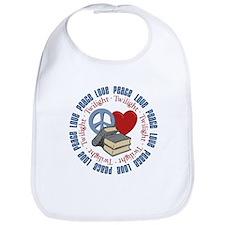 Peace Love Twilight Book Bib