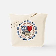Peace Love Twilight Book Tote Bag