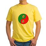 Save Spend Yin Yang Yellow T-Shirt