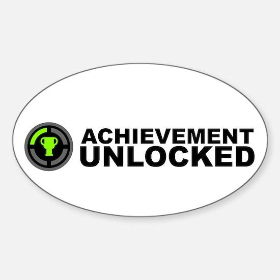 Achievement Unlocked Oval Decal