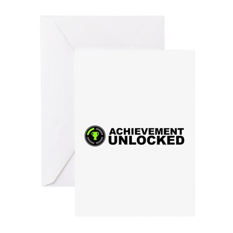 Achievement Unlocked Greeting Cards (Pk of 10) by