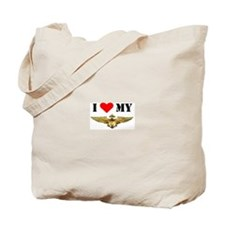 Unique I love my military wife Tote Bag