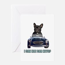 LOL French Bulldog Greeting Card