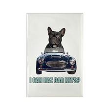 LOL French Bulldog Rectangle Magnet