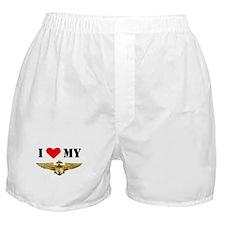 Unique I love my navy girlfriend Boxer Shorts