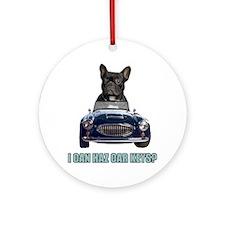 LOL French Bulldog Ornament (Round)