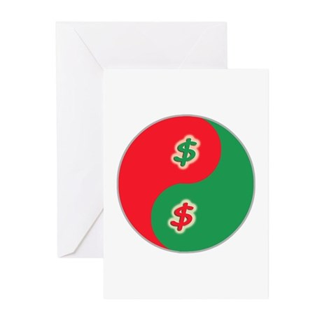 Spend Save Yin Yang Greeting Cards (Pk of 20)