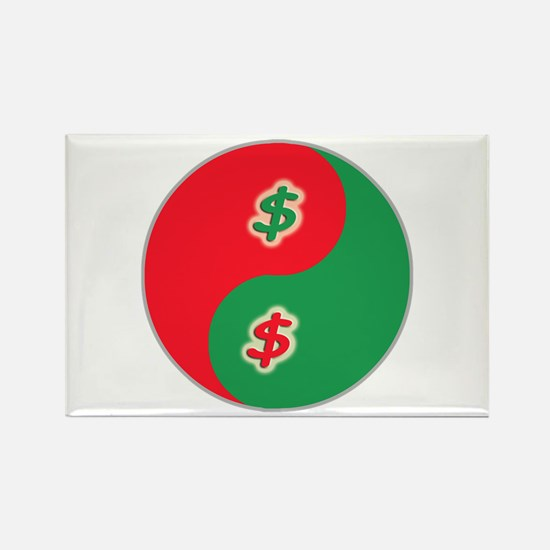 Spend Save Yin Yang Rectangle Magnet