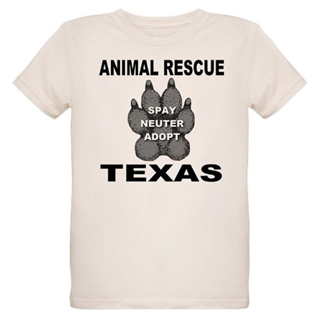The Texas Animal Rescue Paw Organic Kids T-Shirt