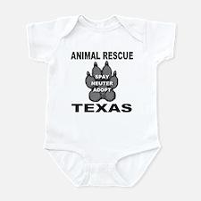 The Texas Animal Rescue Paw Infant Bodysuit