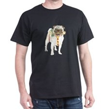 Holiday Pug Black T-Shirt