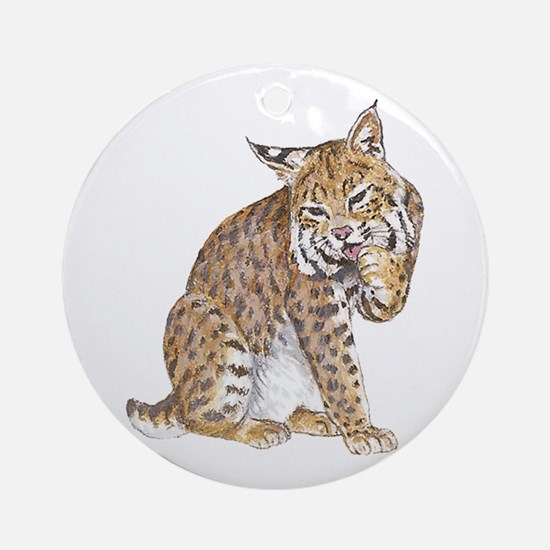 Bobcat Ornament (Round)
