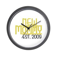 New Mommy Est 2009 Wall Clock