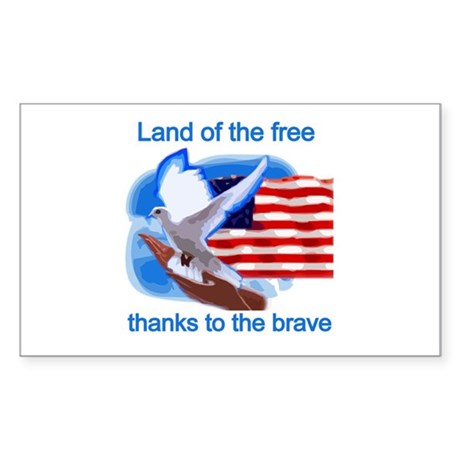 Land of the Free Rectangle Sticker