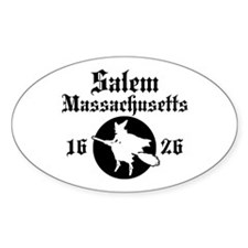 Salem Massachusetts Oval Sticker (10 pk)