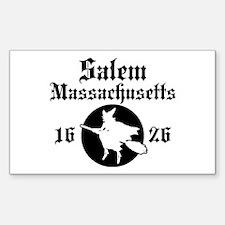 Salem Massachusetts Rectangle Decal
