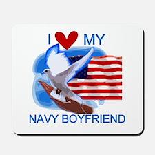 Love My Navy Boyfriend Mousepad