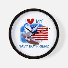 Love My Navy Boyfriend Wall Clock