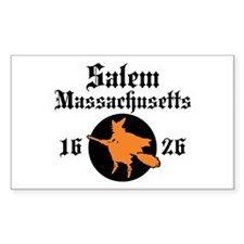 Salem Massachusetts Rectangle Decal