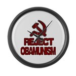Reject Obamunism Large Wall Clock