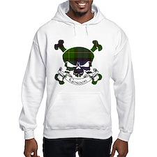 Gordon Tartan Skull Jumper Hoody