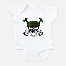 Gordon Tartan Skull Infant Bodysuit