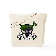 Gordon Tartan Skull Tote Bag