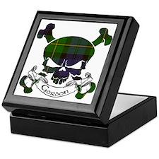 Gordon Tartan Skull Keepsake Box