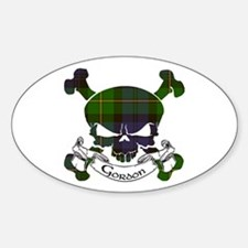 Gordon Tartan Skull Decal