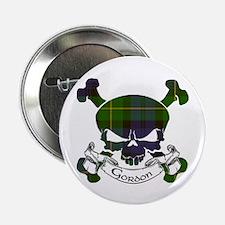 """Gordon Tartan Skull 2.25"""" Button"""