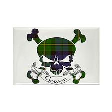 Gordon Tartan Skull Rectangle Magnet