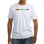 Queer Morse Bar Fitted T-Shirt