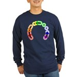 Queer Morse Arc Long Sleeve Dark T-Shirt