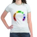 Queer Morse Arc Jr. Ringer T-Shirt