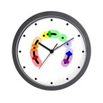 Queer Morse Arc Wall Clock