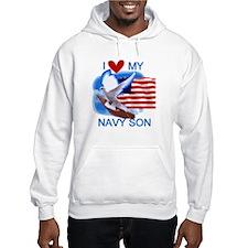 Love My Navy Son Hoodie